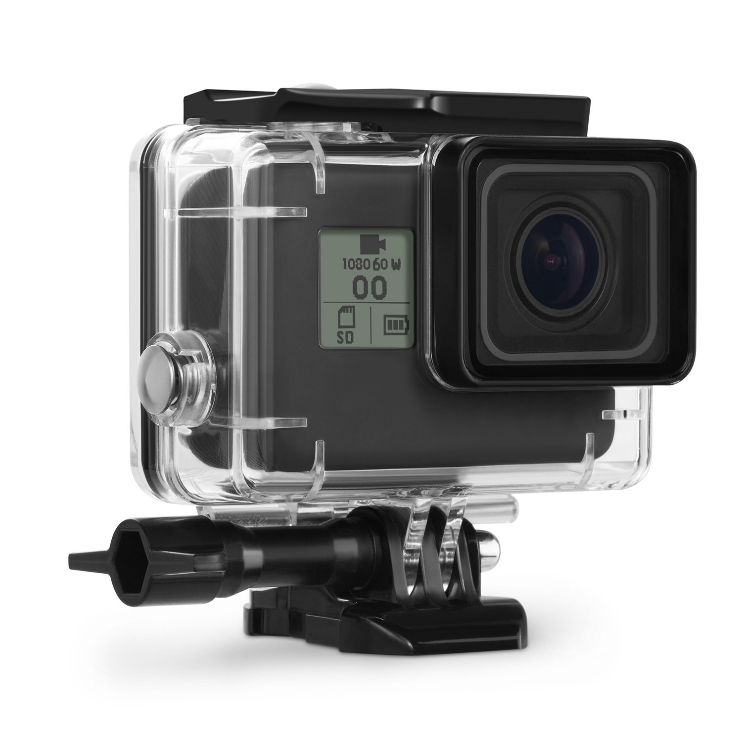 Kupton Waterproof Case for GoPro Hero 7 Black Hero 5 / 6 Accessories Housing Case Diving Protective Housing Shell 45m for Go Pro Hero7 Hero6 Hero5 Hero 2018 Action Camera with Bracket Accessories