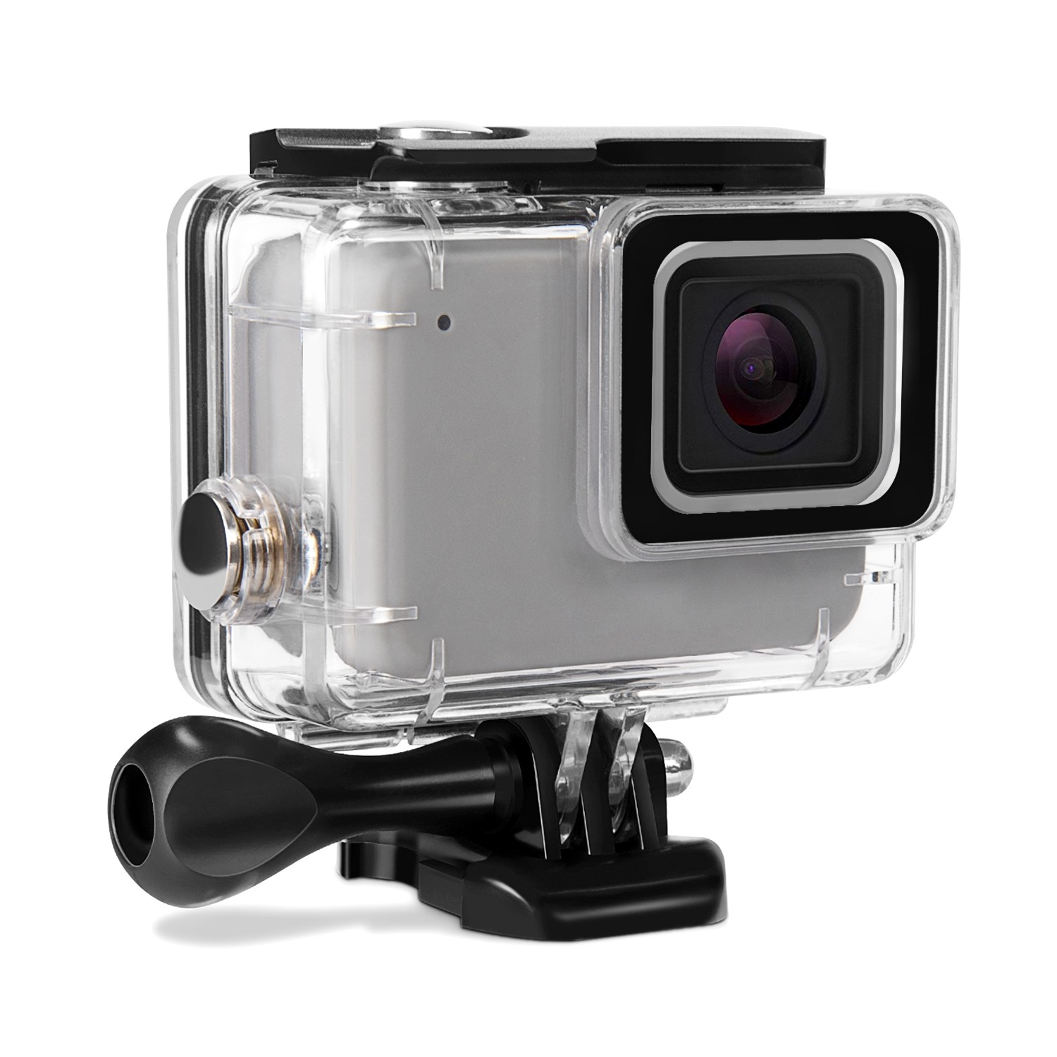 Kupton Waterproof Case for GoPro Hero 7 Silver/ White Housing Case Accessaries Diving Protective Housing Shell 45 Meter for Go Pro Hero7 Silver White Action Camera with Bracket Accessories