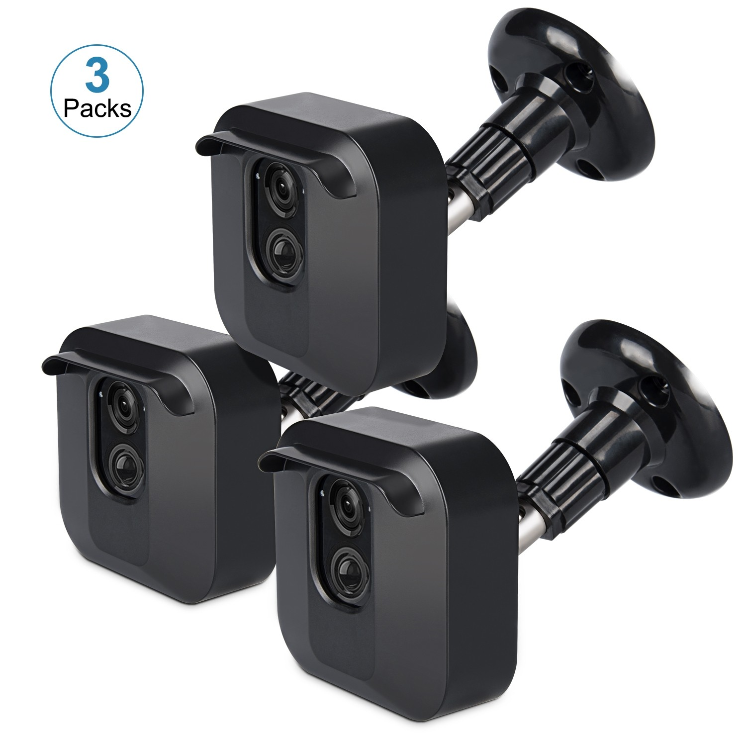 Kupton Wall Mount Housing Bracket for Blink XT Blink XT2 Camera (3 Packs), 360 Degree Adjustable Weather-Proof Protective Housing Cover + Holder Stand for Blink XT/ XT2 Outdoor Camera Security System