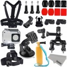 Xiaomi Yi 2/4K Accessories Kit, Kupton Xiaoyi 4K II Waterproof Housing Case+ Head Strap+ Chest Harness+ Car Suction Cup+ Bike Handlebar Mount+ Floaty Handle Action Camera Starter Kit