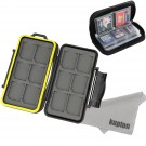 Kupton Memory Card Case Kit Water-resistance Hard Carrying Case Holder + Pouch Zippered Storage for SD SDHC SDXC Micro SD CF Card