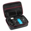 DJI Spark Case, Kupton Carbon Fiber Hard-shell Hang pack Drone Box Waterproof Carrying Case, Slots for Remote Control, 2 batteries and propellers, Pockets for USB, Cable, Micro SD Cards and other accessories (Black)