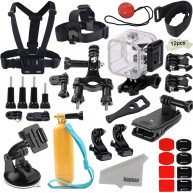 Kupton GoPro Hero 4 Session Bundle Action Camcorder Camera Accessories Mounts Waterproof Housing Case Chest Head Bike Car Backpack Clip Mount