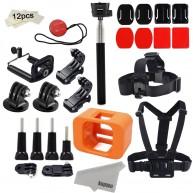 Kupton Accessories for GoPro Hero 4 Session Mounts Bundle GoPro Camera Floaty Chest Harness Head Strap Monopod Stick Starter Kit