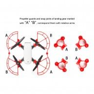 Kupton DJI Spark Propeller Guards, Protection Propeller Guards &Landing Gear Set Accessories for DJI Spark Drone(Red)