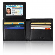 [RFID Blocking Wallet] Kupton Genuine Leather Wallets for Men - Travel Bifold - RFID Shielding Credit Card Protector - Business Style Wallet w/ Gift Packing