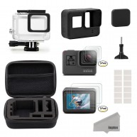 Kupton Accessories for GoPro Hero 5 Black Travel Case Small + Housing Case + Screen Protector + Lens Cover + Silicone Case Outdoor Sport Kit