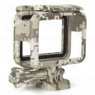 Kupton Housing Frame Case for GoPro Hero 7 Black/ Hero 7 Silver/ Hero 7 White Hero 6/ 5/ 2018 Protective Shell Cage Mount Accessories for Go Pro Hero7 Hero6 Hero5 with Socket Screw Camouflage Gray